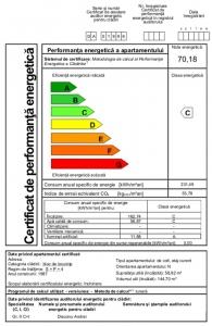 Certificat energetic apartament